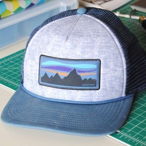 Patagonia Dark Blue and Grey Trucker Hat